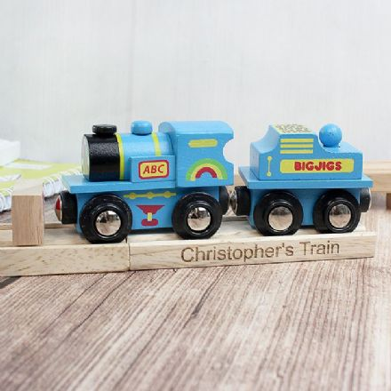Personalised Blue ABC Engine and Track